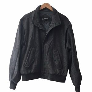 Members Only wool bomber jacket gray size 44